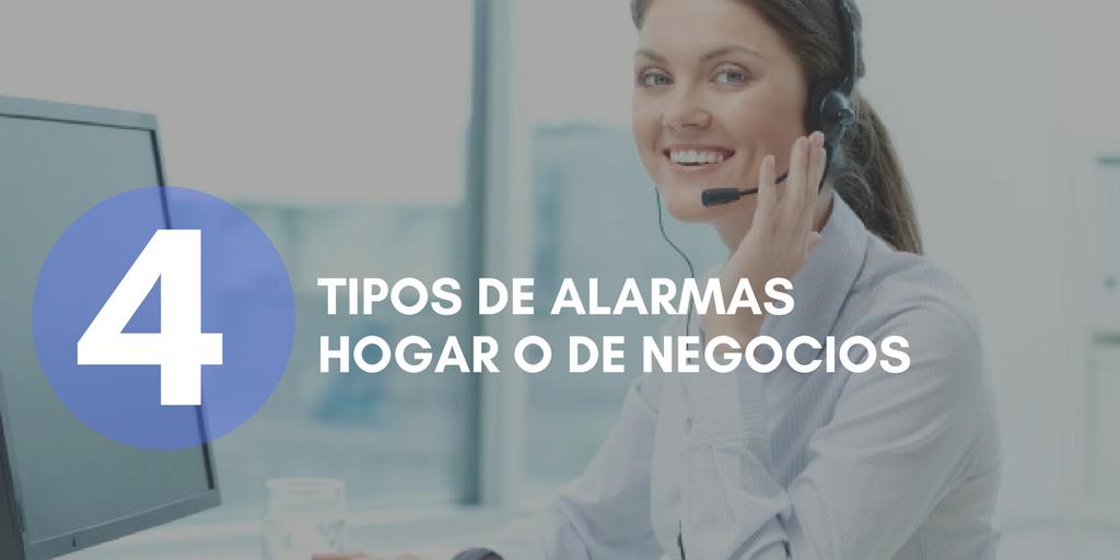 4 tipos de alarmas hogar o de negocios