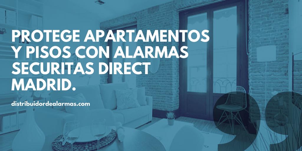 Protege apartamentos y pisos con alarmas securitas direct Madrid